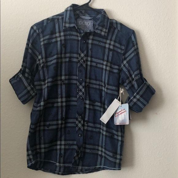 DCBD printed flannel young M